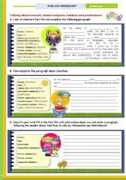 English worksheet writing series 1 writing about oneself english worksheet writing series 1 writing about oneself personal information school subjects hobbies and future careers for upper elementary and ibookread ePUb