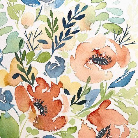 Diy Floral Watercolor Decadent Pies Prima Watercolors