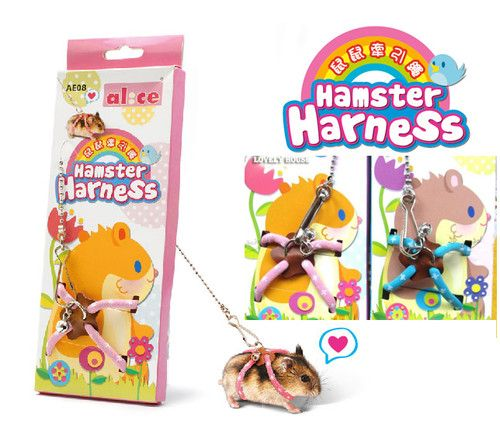 Adjustable Rat Mouse Harness With Lead Small Ferret Lead Hamster Hamsters
