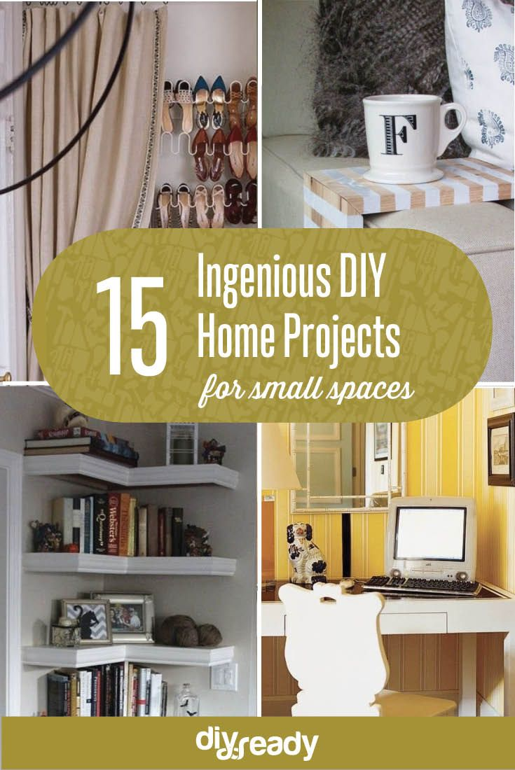 15 Ingenious Diy Projects For Small Es See Them All At Diyready