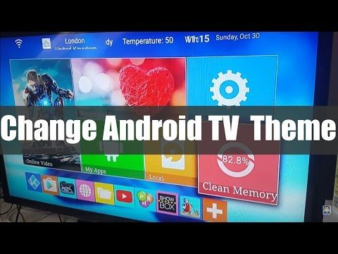Change your Android TV home screen theme | kodi/Cut the Cord | Kodi