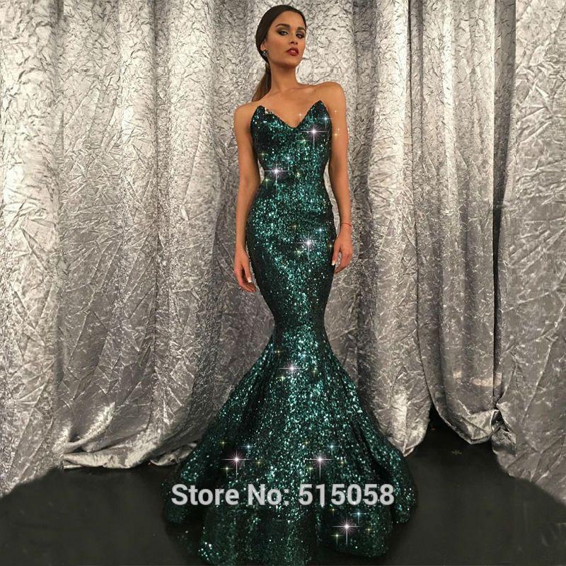 Green Mermaid Long Dresses