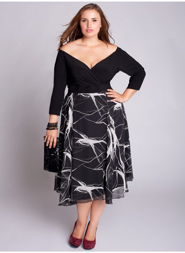 Büyük beden kokteyl elbisesi | Kadın Giyim - Büyük Beden ...