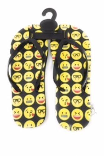 Emoji Flip Flops Sandals Black With Yellow Emoji Faces Size 5 6 Unbranded Sandals Any Black Sandals Flip Flop Sandals Emoji Faces