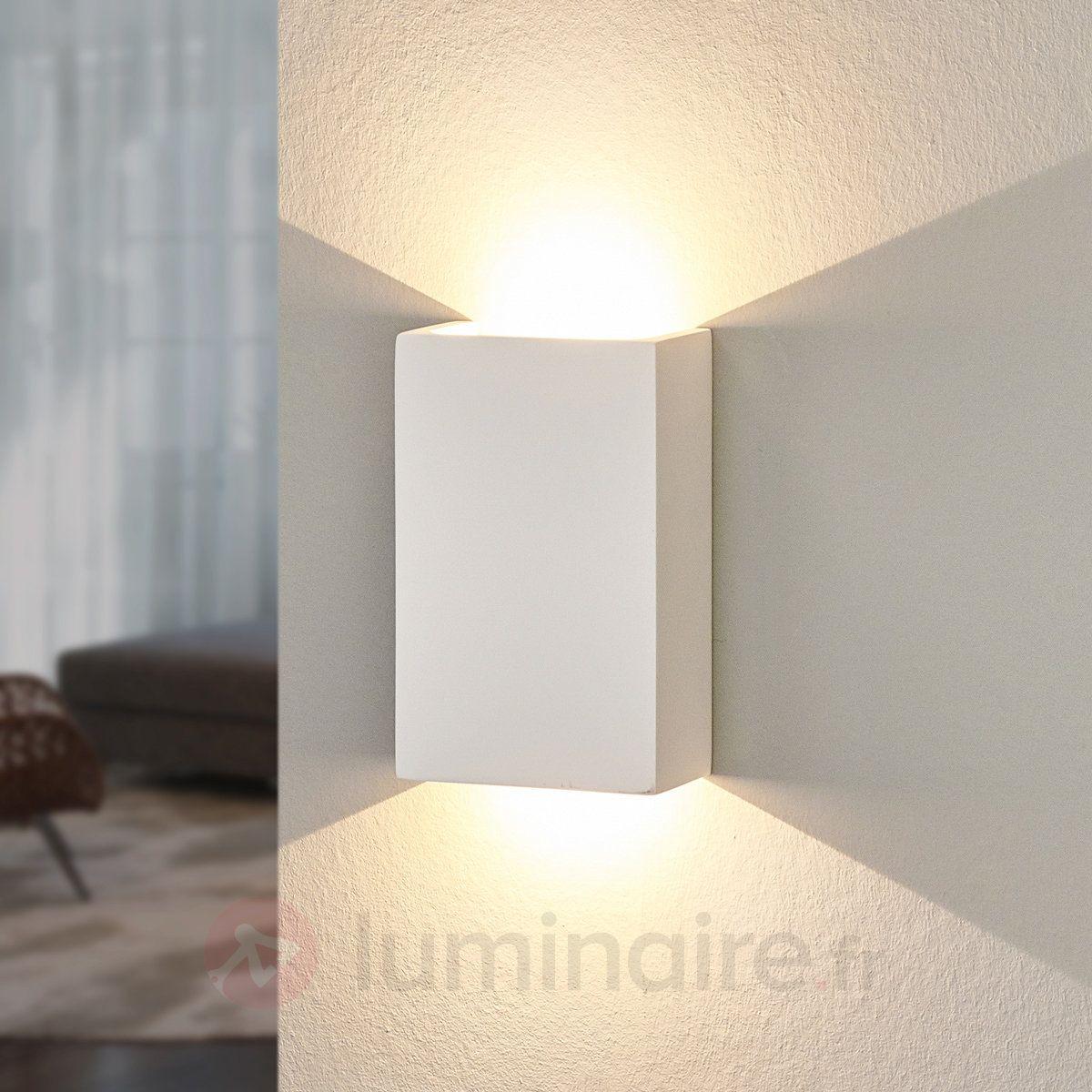 Applique LED Fabiola En Plâtre