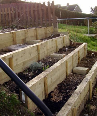 completed steps sloped garden
