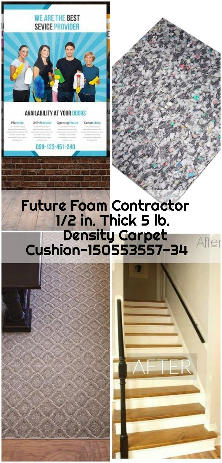 Future Foam Contractor 1 2 In Thick 5 Lb Density Carpet Cushion 150553557 34 Carpet Con Carpet Carpet Runner Contractors