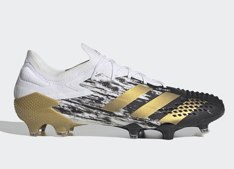 Adidas Predator Mutator 20 1 Low Fg Cloud White Gold Metallic Core Black Adidasfootball Footballboots Adidasfu In 2020 Adidas Predator Football Boots Predator
