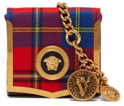 Versace Medusa Coin Tartan Belt Bag - Womens - Red Multi  3c536dc23ceb4