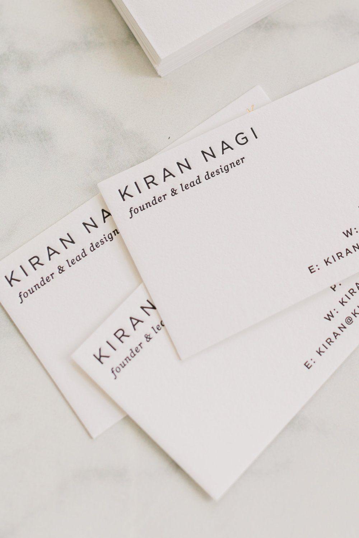Minimalist Business Card Design Gold Foil Letterpress Business