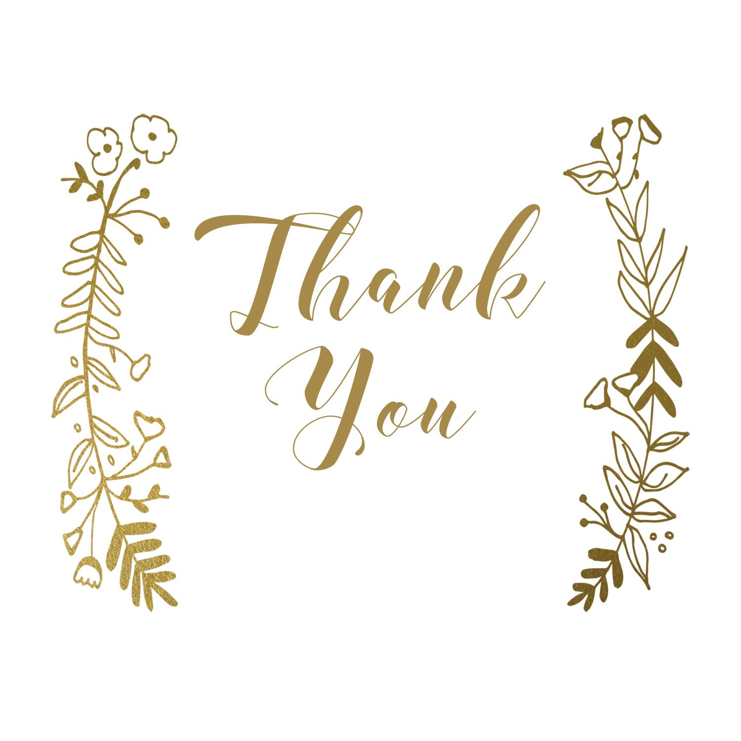 Thank You Side By Side Free Wedding Thank You Card Greetings