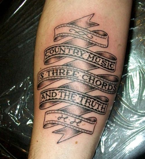 Image Result For Three Chords And The Truth Tattoo Ideas