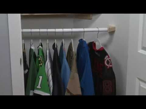 Pin By Holly Foti On Organization Closet Bar Closet Rod Simple Closet