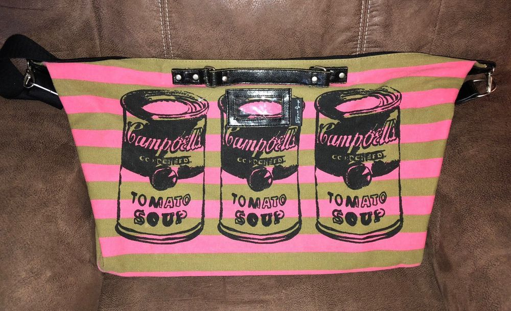 Andy Warhol Weekend Duffle Travel Canvas Bag Campbells Tomato Soup Pop Art Travel Canvas Canvas Bag Andy Warhol
