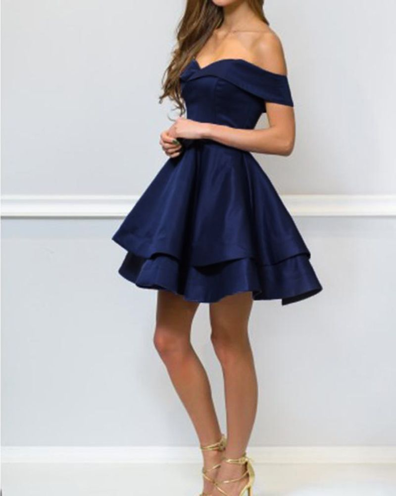 Lovely Red  Blue 8th Grade Prom Dress Short Graduation  Homecoming ... 427ed7614