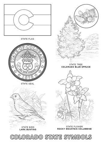 Colorado State Symbols coloring page from Colorado