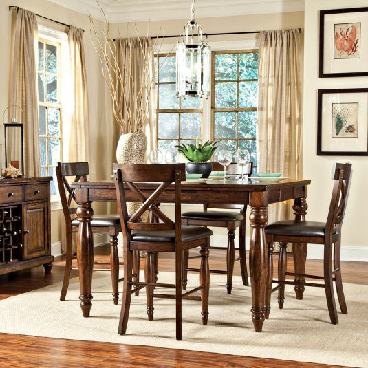 Kingston Rectangular Square Counter Height Leg Table Dining Room Sets Bedroom Furniture Curio Cabinets And Solid Wood