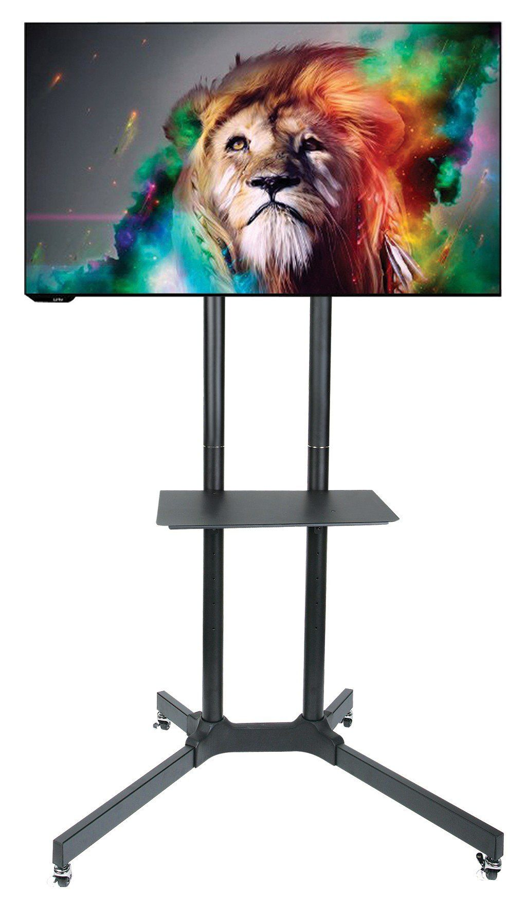 Husky Mount Mobile TV Stand with Wheels Heavy Duty Universal Rolling