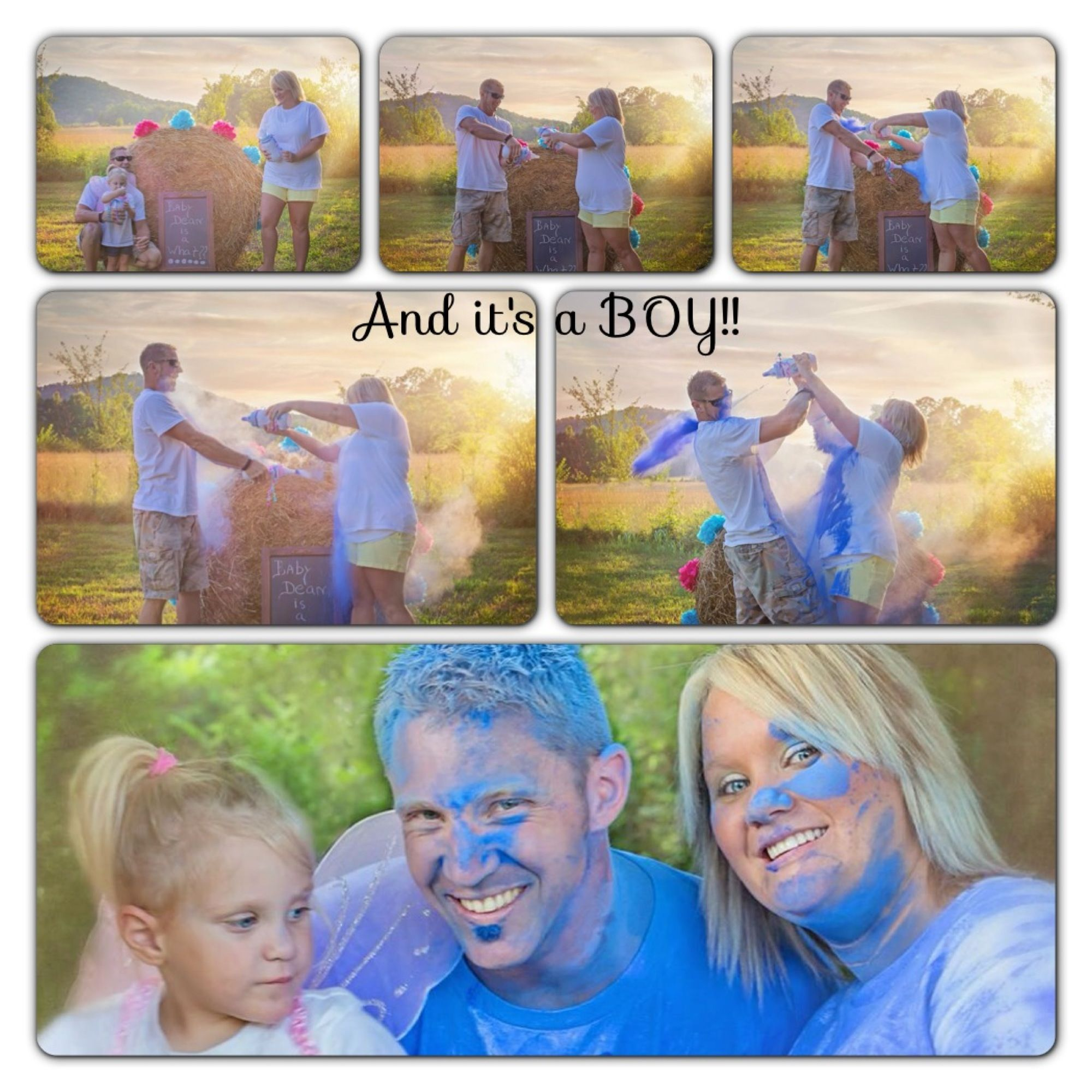 Powder Paint Gender Reveal Party What Better Way To Have Some Fun And Reveal The Gender Of Gender Reveal Photography Baby Gender Reveal Sibling Gender Reveal