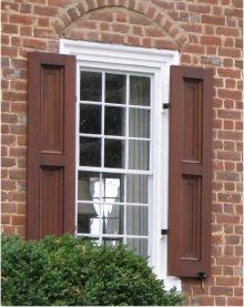 Philadelphia federal recessed panel exterior shutters for Recessed panel shutters