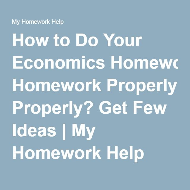 Help with college economics homework