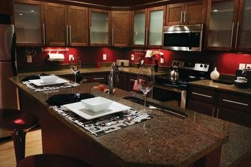 Shaker Walnut Cabinets contemporary kitchen cabinets
