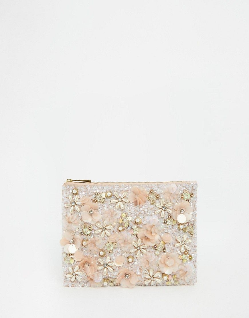 f7cb7e9779b ASOS Floral Embellished Clutch Bag saved by #ShoppingIS | Bags ...