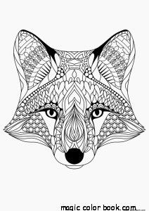 Fox Pattern Cool Coloring Pages Online Free Girls Mandala
