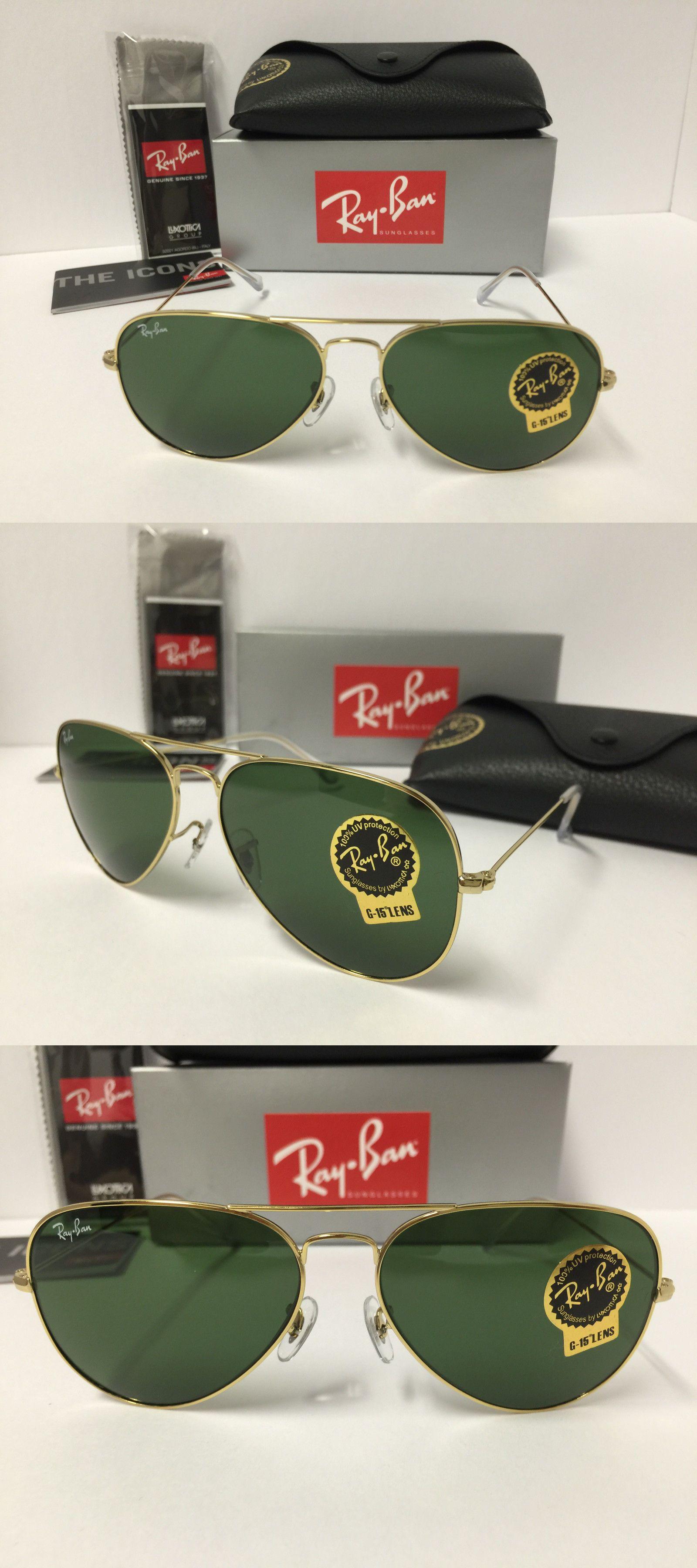 46ebb0234c7 ... hot sunglasses 155189 ray ban aviator sunglasses rb3025 l0205 gold frame  green lenses 58mm a18aa 116cf