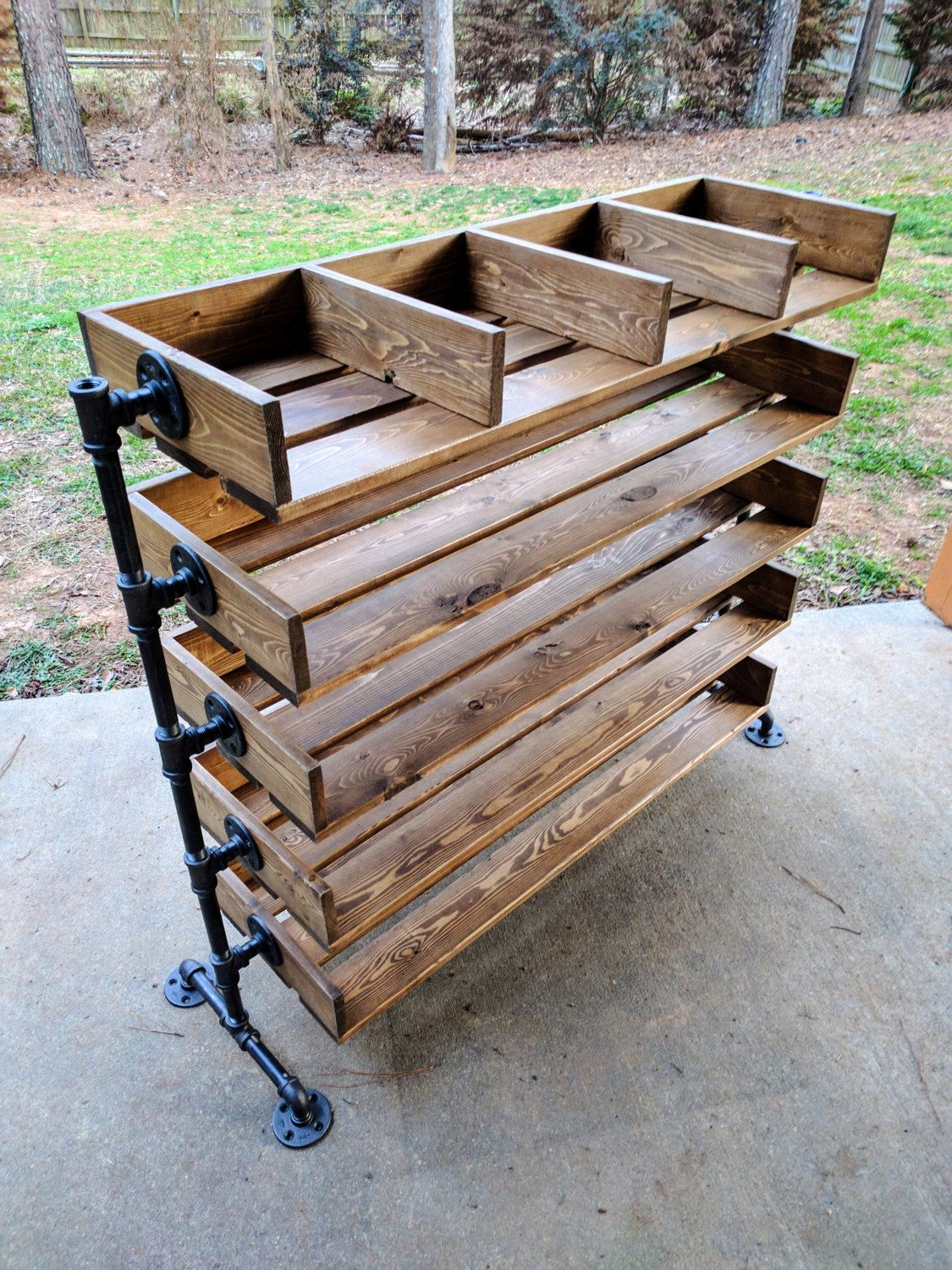 Handmade Reclaimed Cubbies Wood Shoe Stand / Rack / Organizer with ...