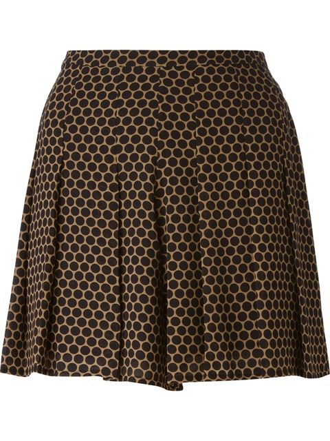 MICHAEL MICHAEL KORS Pleated Polka Dot Shorts. #michaelmichaelkors #cloth #shorts
