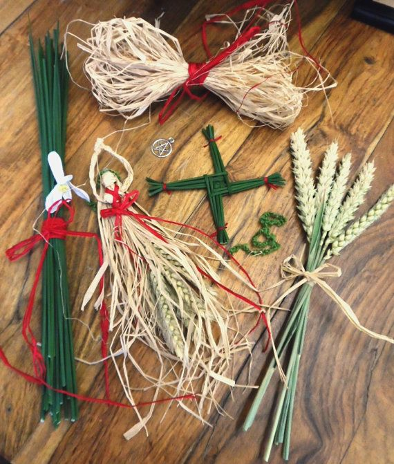 Why not have a go at making your own Brigid Corn dolly and St. Brigids cross for your Imbolc celebrations? They make lovely Imbolc, birthday,