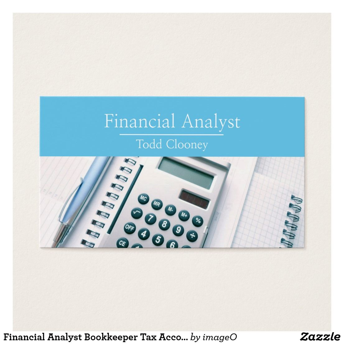 Financial Analyst Bookkeeper Tax Accountant Business Card | Business ...