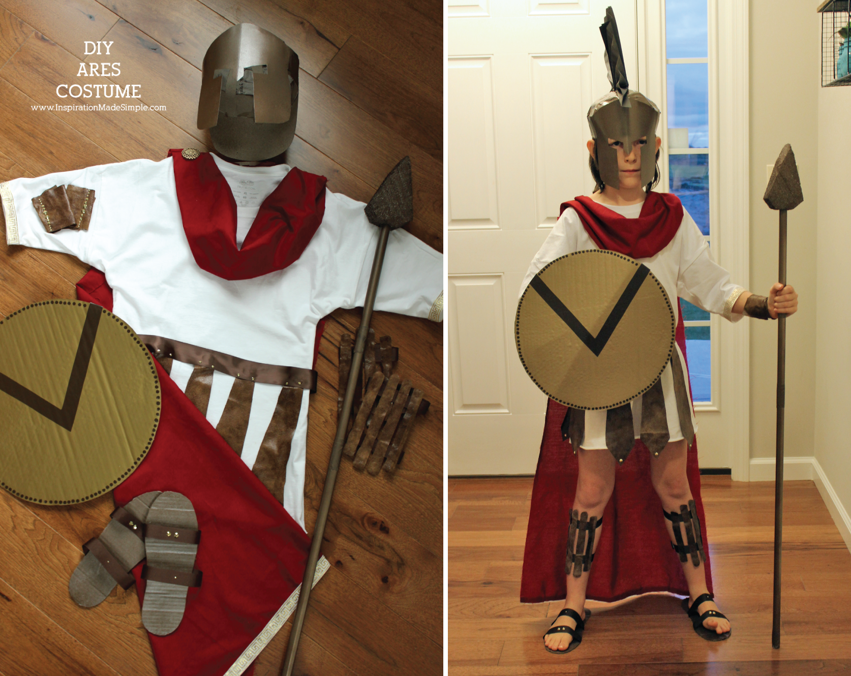 DIY Ares Greek Mythology Costume | Greek mythology ...