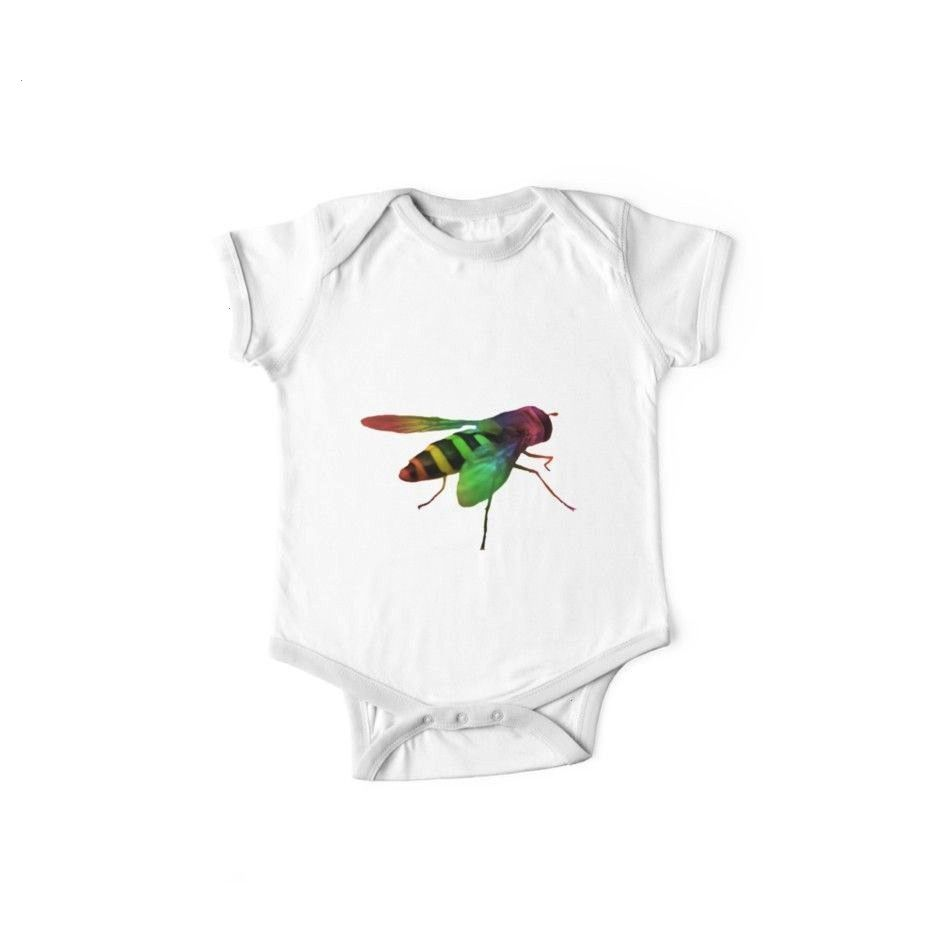 wasp in the colors of the rainbow insect Kids Clothes by rhnaturestyles Trendy fashion with a great wasp ausstattungencolorful wasp in the colors of the rainbow insect Ki...