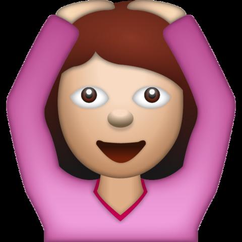 Woman Saying Yes Emoji Emoji Cool Emoji Emoji Faces