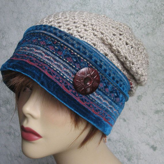 Womens Crochet Slouch Hat Pattern With Tapestry Brim Instant ...