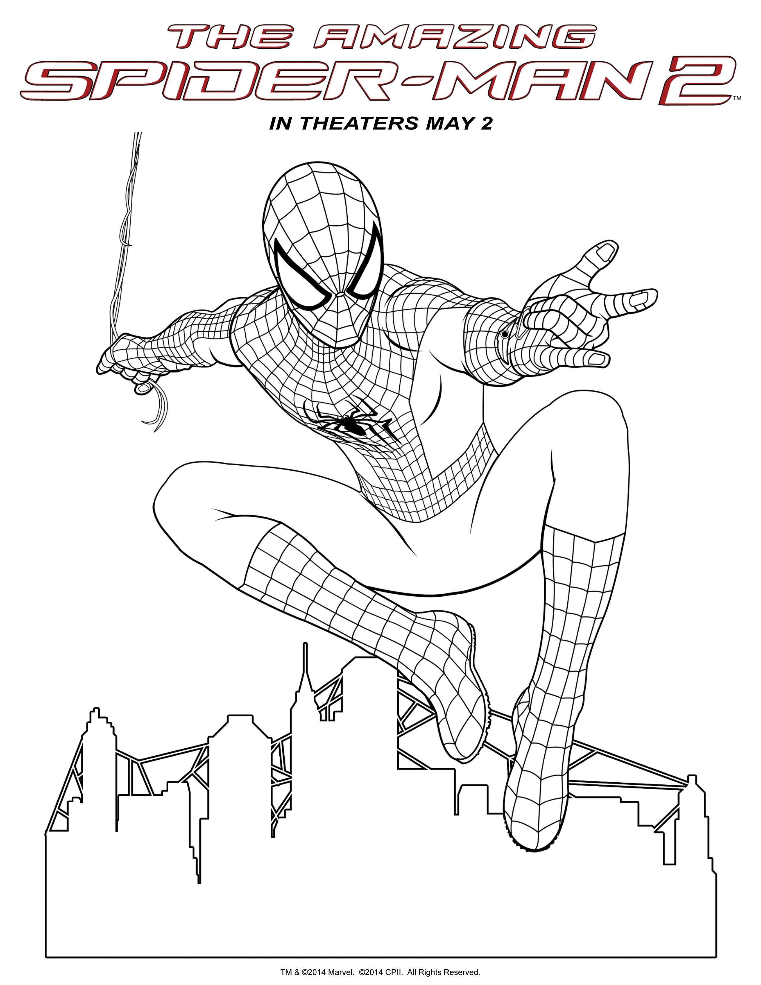Spider Man 2 Hombre Arana Para Pintar