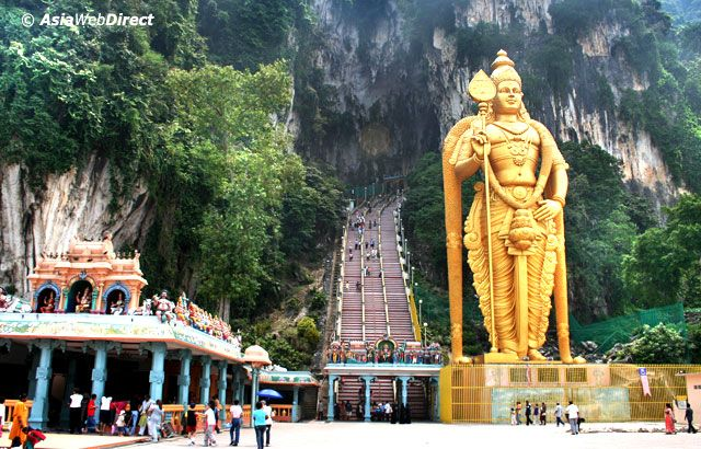 subramanya swamy temple in caves in malaysia | indian temples | Batu