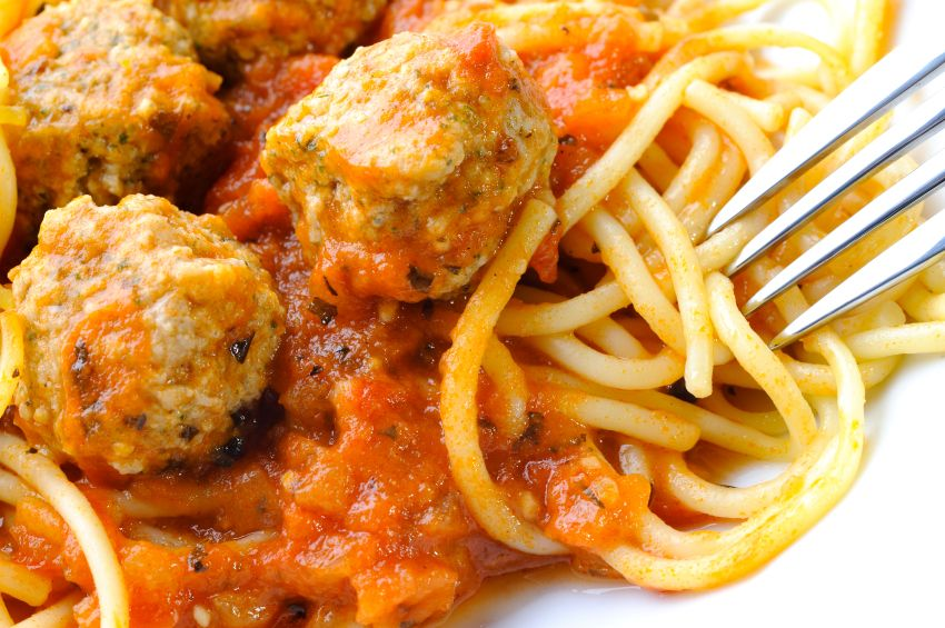Italian Sausage and Ricotta Meatballs with Peppers, Onions and Red Wine Sauce