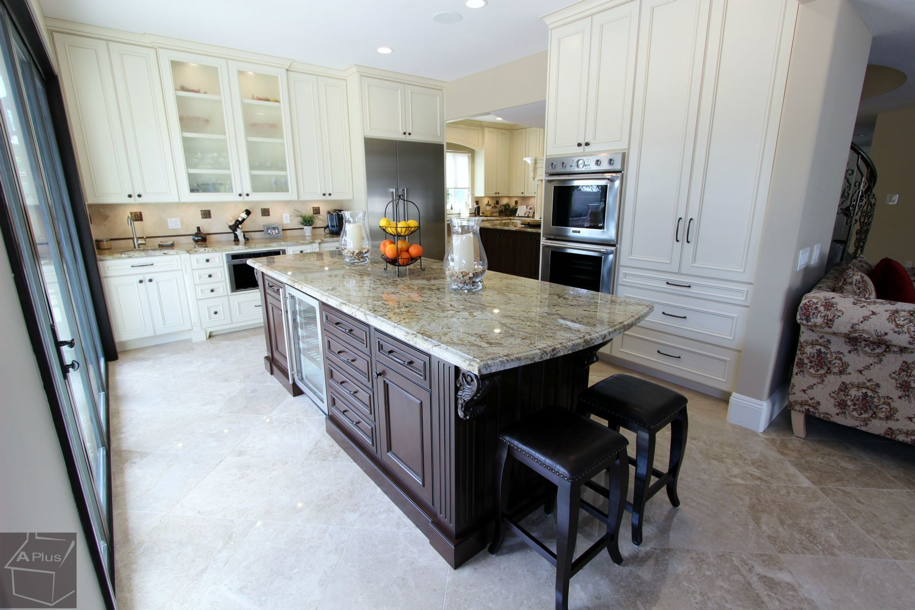 Superb Traditional Style Design Build Luxury #Kitchen Home #Remodel With Custom # Cabinets U0026 Thermador