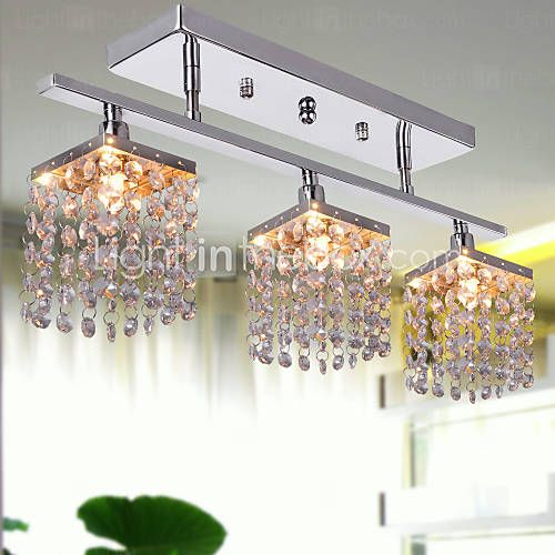 Crystal Chandelier with 3 lights - Linear Design - USD $ 59.99