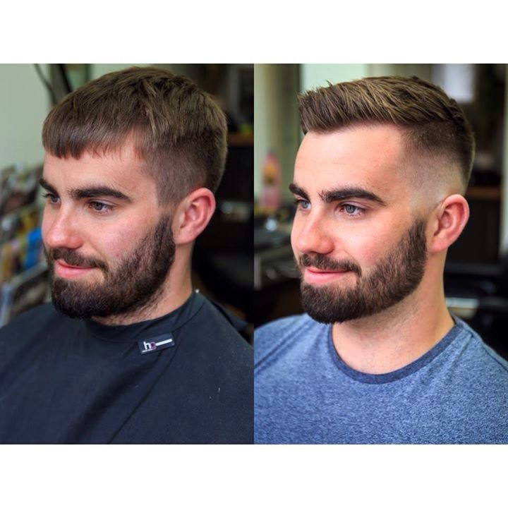 Skin Fade Skull Fade Textured Top And A Beard Sharpen Mens Haircuts Short Men S Short Hair Men Haircut Styles