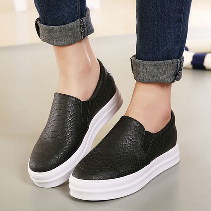 Shoes For Women Leather Flat Heel Fashion Boots Comfort Closed Toe Fashion Sneakers Loafers Casual Pink White