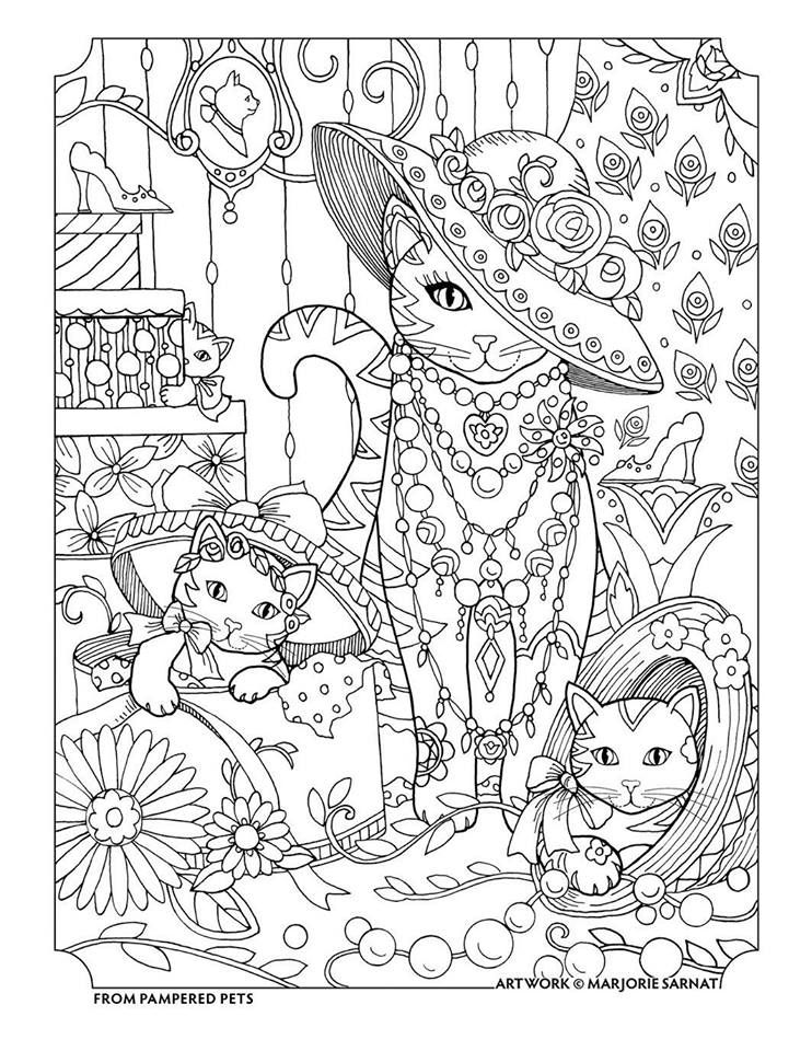 Kitties Dress Up Coloring Page Coloring Books