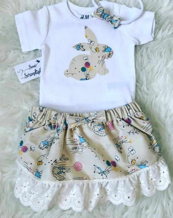 7f3ebda0b Baby Girl Outfit - Easter Bunny Outfit, Baby Shower Gift, Beatrix Potter  new baby