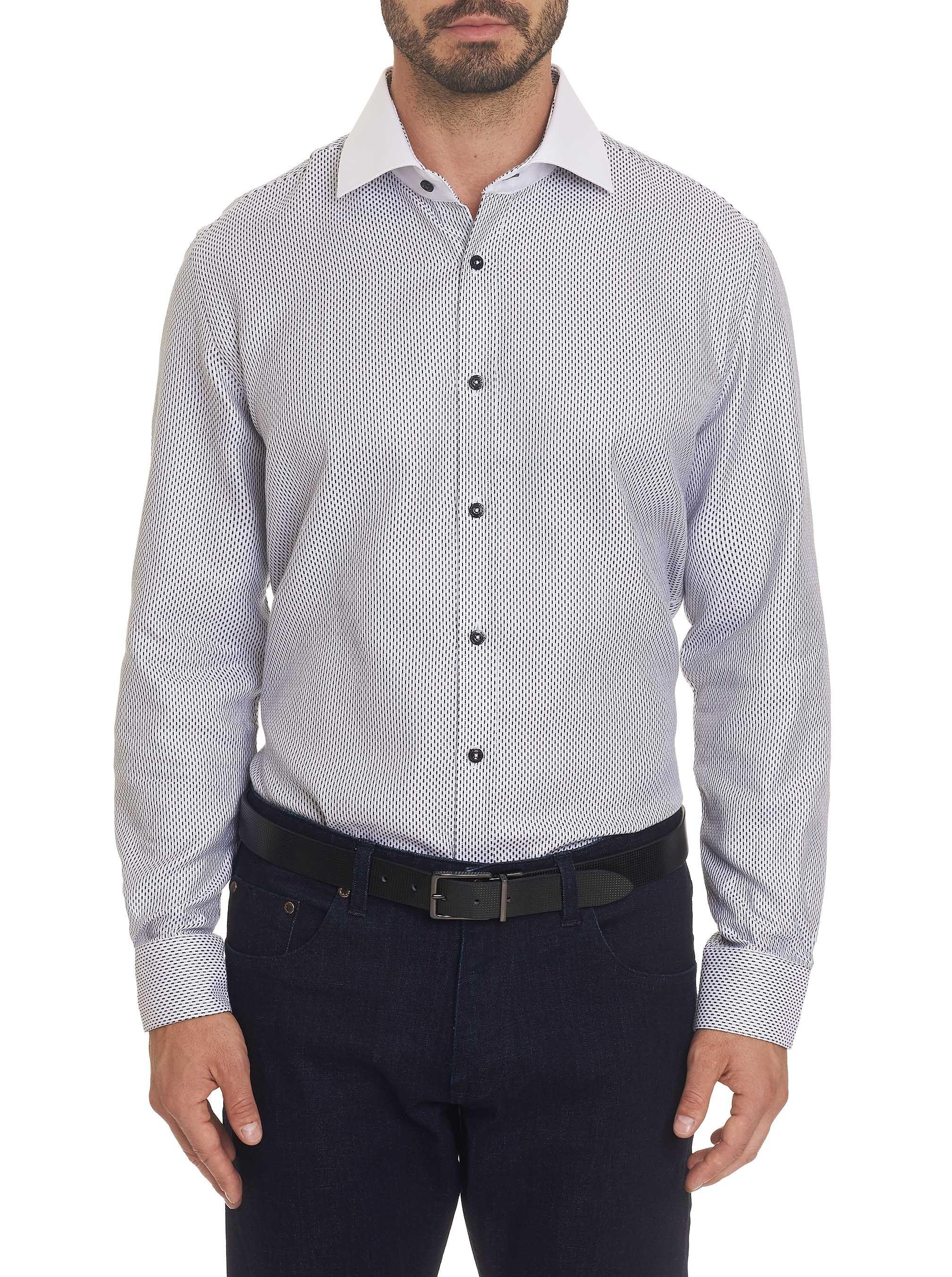 Robert Graham Men S Ron Dress Shirt In White Size 17 5 By Robert Graham Robertgraham Cloth Shirt Dress Shirts Contrast Collar Dress Shirt [ 2705 x 2017 Pixel ]