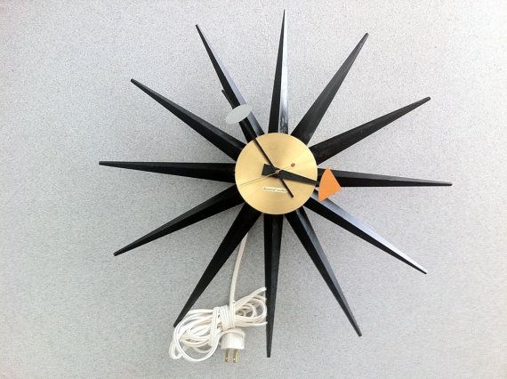 Beautiful vintage George Nelson star clock by rockybird on Etsy, $475.00