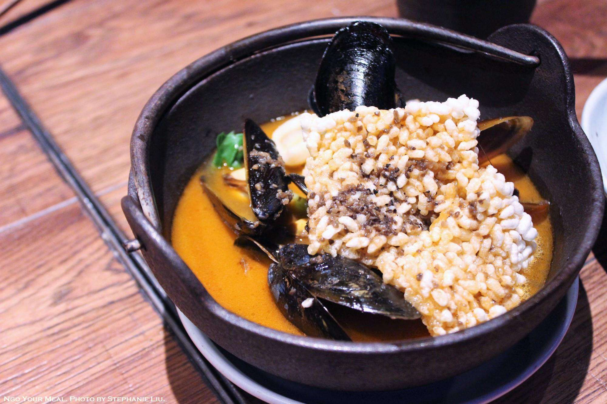 Truffle Seafood Broth with Sizzling ...