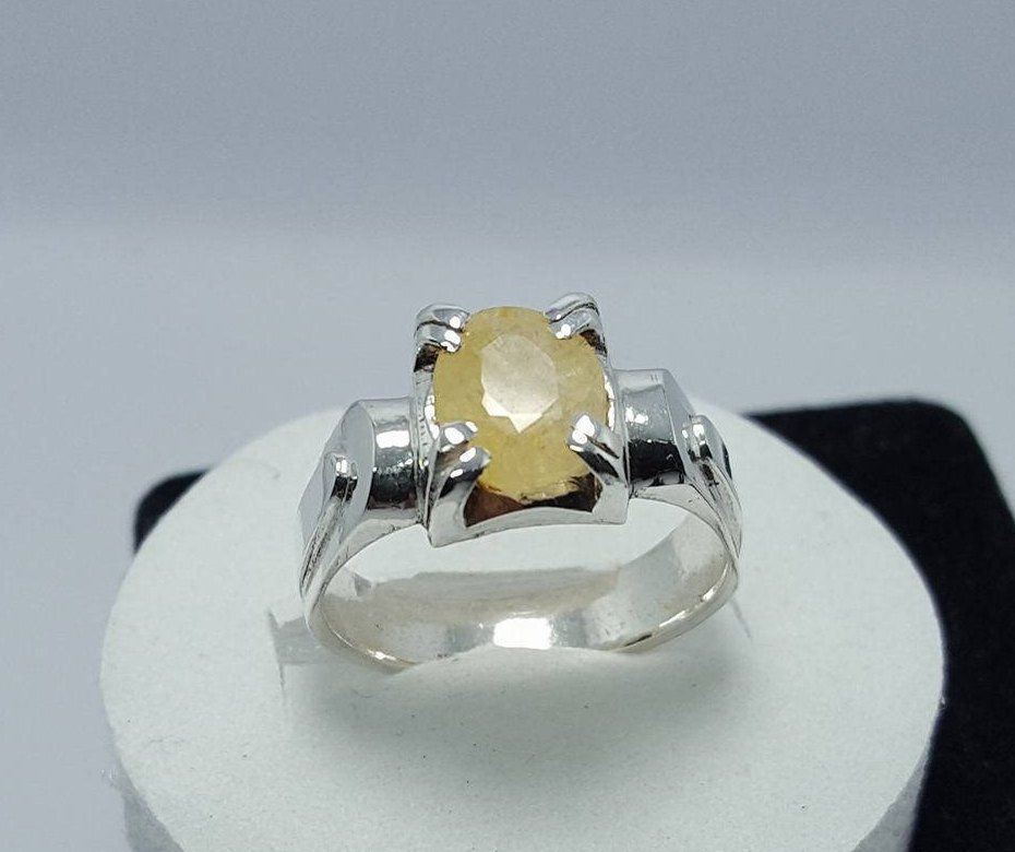 Ceylon Sapphire Pukhraj Ring Unheated Untreated Yellow Sapphire Ring Natural Sapphire Ring Big Sapphire Stone Unheated Sapphire Rings Shia With Images Natural Blue Sapphire Ring Yellow Sapphire Rings Sapphire Stone